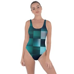 Background Squares Metal Green Bring Sexy Back Swimsuit