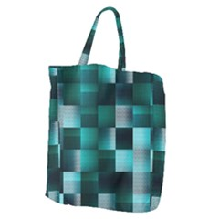 Background Squares Metal Green Giant Grocery Zipper Tote by Nexatart