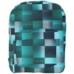 Background Squares Metal Green Full Print Backpack by Nexatart