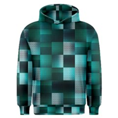 Background Squares Metal Green Men s Overhead Hoodie