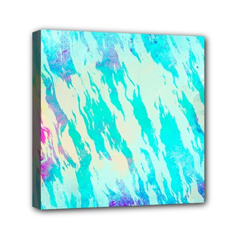Blue Background Art Abstract Watercolor Canvas Travel Bag