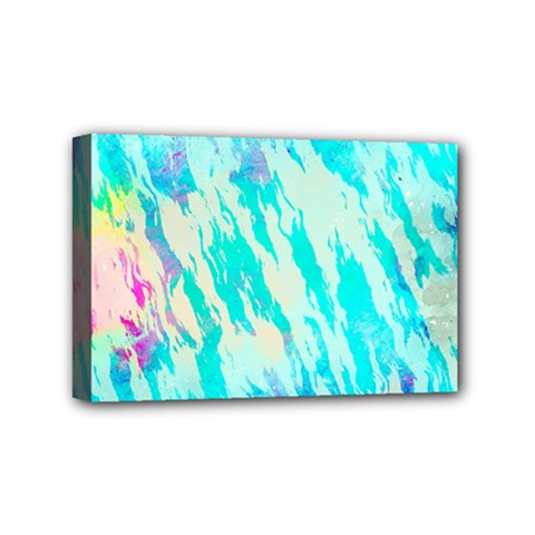 Blue Background Art Abstract Watercolor Mini Canvas 6  X 4