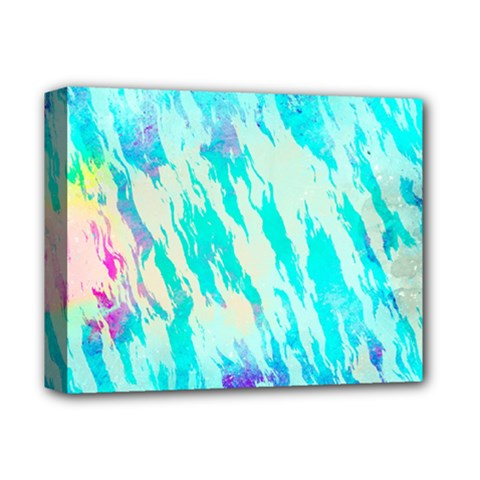 Blue Background Art Abstract Watercolor Deluxe Canvas 14  X 11