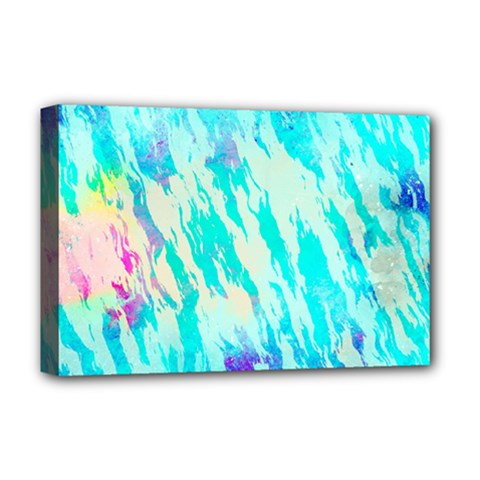 Blue Background Art Abstract Watercolor Deluxe Canvas 18  X 12