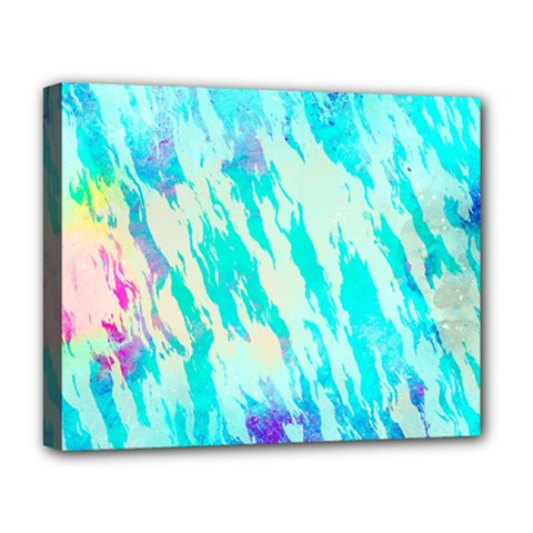 Blue Background Art Abstract Watercolor Deluxe Canvas 20  X 16   by Nexatart