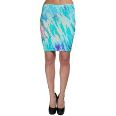 Blue Background Art Abstract Watercolor Bodycon Skirt