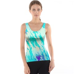 Blue Background Art Abstract Watercolor Tank Top