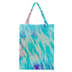 Blue Background Art Abstract Watercolor Classic Tote Bag