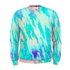 Blue Background Art Abstract Watercolor Men s Sweatshirt