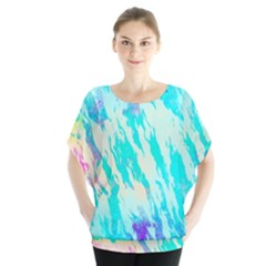Blue Background Art Abstract Watercolor Blouse