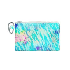 Blue Background Art Abstract Watercolor Canvas Cosmetic Bag (small) by Nexatart