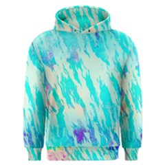 Blue Background Art Abstract Watercolor Men s Overhead Hoodie