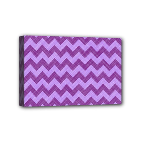 Background Fabric Violet Mini Canvas 6  X 4