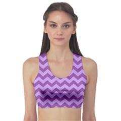 Background Fabric Violet Sports Bra