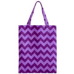 Background Fabric Violet Zipper Classic Tote Bag
