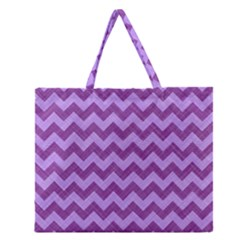 Background Fabric Violet Zipper Large Tote Bag by Nexatart