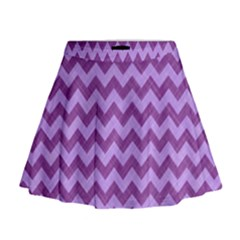 Background Fabric Violet Mini Flare Skirt