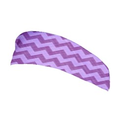 Background Fabric Violet Stretchable Headband