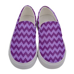 Background Fabric Violet Women s Canvas Slip Ons