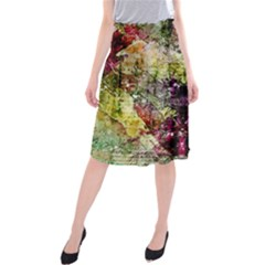 Background Art Abstract Watercolor Midi Beach Skirt