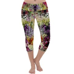 Background Art Abstract Watercolor Capri Yoga Leggings