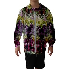 Background Art Abstract Watercolor Hooded Wind Breaker (kids)