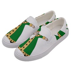 St  Patrick  Dabbing Men s Canvas Slip Ons by Valentinaart