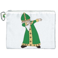St  Patrick  Dabbing Canvas Cosmetic Bag (xxl) by Valentinaart