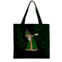 St  Patrick  Dabbing Grocery Tote Bag by Valentinaart