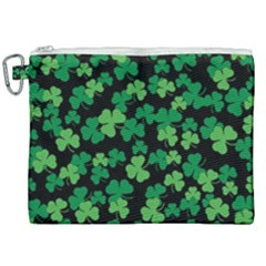 St  Patricks Day Clover Pattern Canvas Cosmetic Bag (xxl) by Valentinaart
