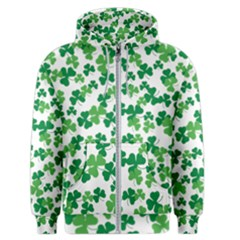 St  Patricks Day Clover Pattern Men s Zipper Hoodie by Valentinaart