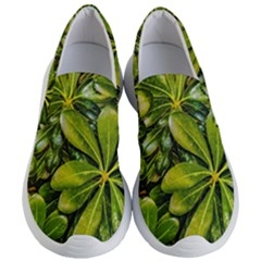 Top View Leaves Women s Lightweight Slip Ons by dflcprints