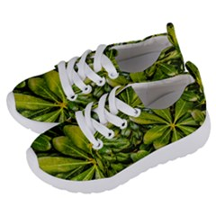 Top View Leaves Kids  Lightweight Sports Shoes by dflcprints