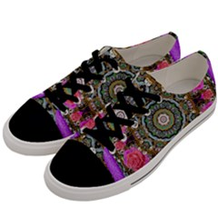 Roses In A Color Cascade Of Freedom And Peace Men s Low Top Canvas Sneakers by pepitasart