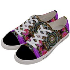 Roses In A Color Cascade Of Freedom And Peace Women s Low Top Canvas Sneakers by pepitasart