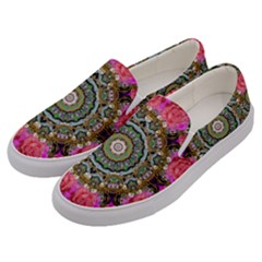 Roses In A Color Cascade Of Freedom And Peace Men s Canvas Slip Ons by pepitasart