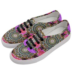 Roses In A Color Cascade Of Freedom And Peace Women s Classic Low Top Sneakers by pepitasart