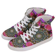 Roses In A Color Cascade Of Freedom And Peace Men s Hi Top Skate Sneakers by pepitasart