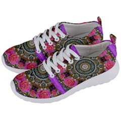 Roses In A Color Cascade Of Freedom And Peace Men s Lightweight Sports Shoes by pepitasart