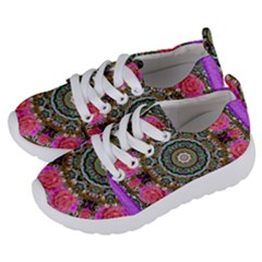Roses In A Color Cascade Of Freedom And Peace Kids  Lightweight Sports Shoes by pepitasart