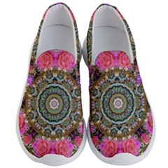 Roses In A Color Cascade Of Freedom And Peace Men s Lightweight Slip Ons by pepitasart