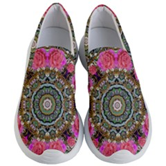 Roses In A Color Cascade Of Freedom And Peace Women s Lightweight Slip Ons by pepitasart