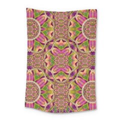 Jungle Flowers In Paradise  Lovely Chic Colors Small Tapestry by pepitasart