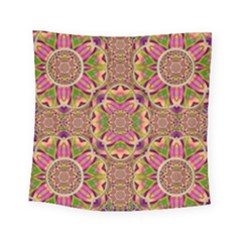 Jungle Flowers In Paradise  Lovely Chic Colors Square Tapestry (small) by pepitasart