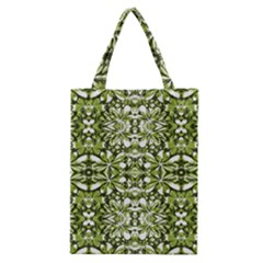 Stylized Nature Print Pattern Classic Tote Bag by dflcprints