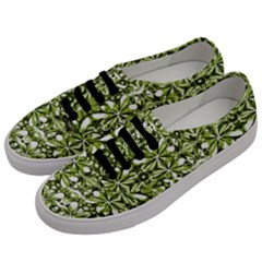 Stylized Nature Print Pattern Men s Classic Low Top Sneakers by dflcprints