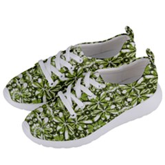 Stylized Nature Print Pattern Women s Lightweight Sports Shoes by dflcprints