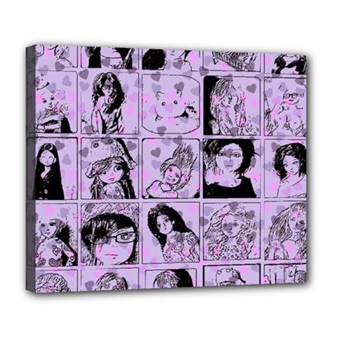 Lilac Yearbook 2 Deluxe Canvas 24  X 20   by snowwhitegirl
