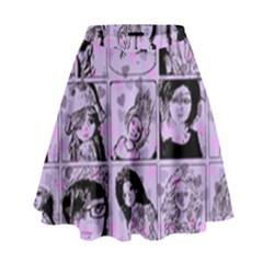 Lilac Yearbook 2 High Waist Skirt by snowwhitegirl
