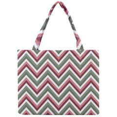 Chevron Blue Pink Mini Tote Bag